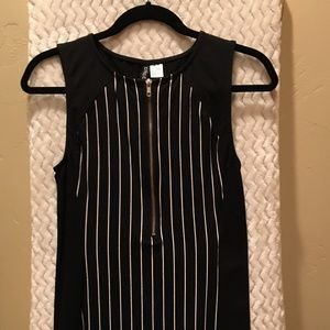 Black, Striped Mini Dress